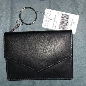 Black Leather Card Holder/ Wallet